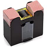 Casino Automatic Card Shuffler for Poker Games(2 Deck, 4 Deck, 6 Deck) (Plastic - 6 Deck)