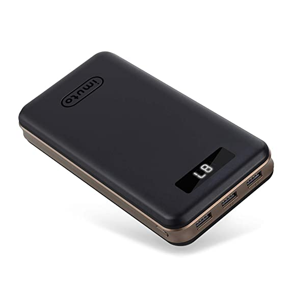 iMuto 30000mAh Portable Charger X6, 3-Port USB Output Power Bank External Battery Packs for iPhone 7, 7 Plus, 6S Plus, Samsung Galaxy S8, Note 8, ...