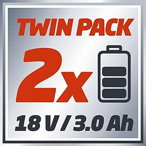Einhell GE-CM 36 Li M - Cortacésped inalámbrico Power X-Change(Ion de litio, 2x18 V, altura de corte 6 niveles | 25-75 mm , ancho de corte 36 ...