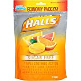 Halls Sugar Free, Citrus Blend Flavor, 70 Ct Package (1 Bag)