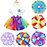 Little Kids Girls Rainbow Skirt Cute Tutu Dance