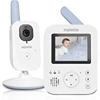 Baby Monitors for Newborn, NANNIO Hero2 Video Baby Monitor with Camera and Audio, Two-way Talk, Auto Night Vision, Voice…