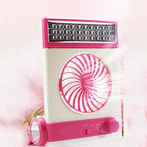FidgetGear Solar Power/AC Rechageable 2-in-1 Camping Cool Fan Light USB LED Lantern Cooler by FidgetGear