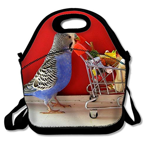 Insulated Lunch Tote Bag Animal Budgerigar Birds