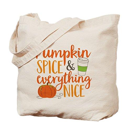 CafePress–Pumpkin Spice and everything nice–Gamuza de bolsa de lona bolsa, bolsa de la compra Small caqui