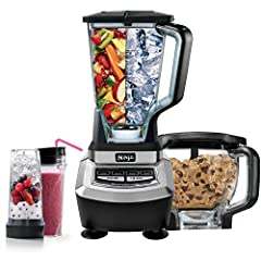 Ninja Supra Kitchen System:1200W, 1.5 hp Ninja food processor kitchen systemTotal Crushing Technology crushes ice, whole fruits and vegetables in seconds2 Nutri Ninja cups with to-go lids for nutrient-rich juices on the goXL 8-cup food proces...