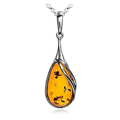 baltic necklace en amber u containing contents pendant real with us l insect a