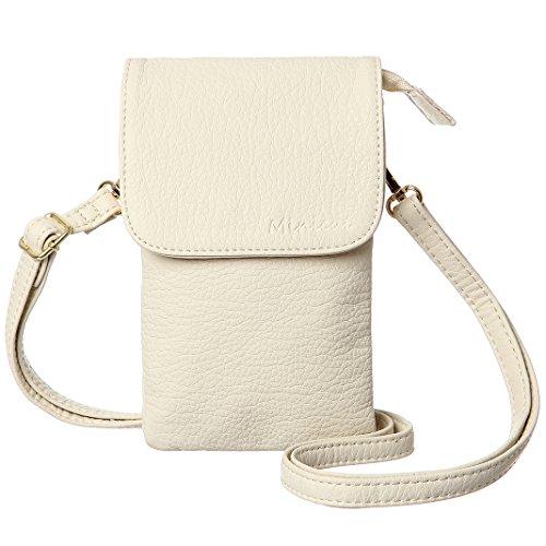 Handbag Women Girls Bag - MINICAT Women Small Crossbody Bag Cell Phone Purse Wallet With Magnetic Button(Beige)