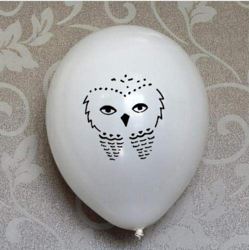 20 White Owl Latex Balloons Balloons Great for a Magical 7th 8th 9th 10th 11th 12th Birthday Party Decorations Shower Supplies -