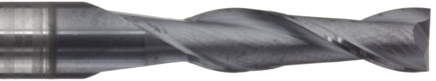 Melin Tool AMG-NC Carbide Square Nose End Mill 1 Shank Diameter 4 Overall Length AlTiN Monolayer Finish 2 Flutes 1 Cutting Diameter 30 Deg Helix