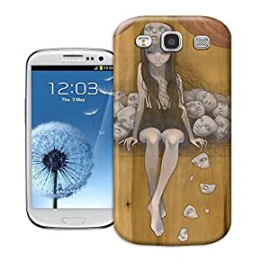 tostore The Most Fashionable Women Art on wood case battery cover for samsung galaxy s3