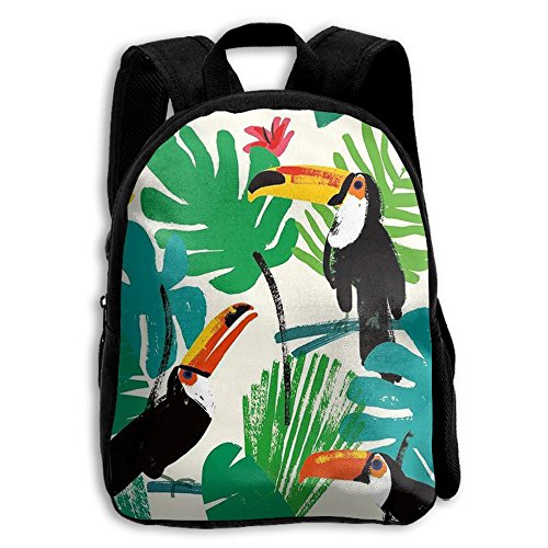 Tropical Toucan Kid Boys Girls Toddler Pre School Backpack Bags Lightweight (Oasis Valance)