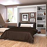 Bestar Pur by Full Wall Bed with Storage Unit White