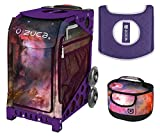 Zuca Sport Bag - Galaxy with Gift Lunchbox and Seat Cover (Purple Frame)