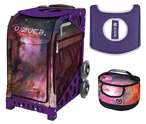 Zuca Sport Bag - Galaxy with Gift Lunchbox and Seat Cover (Purple Frame) by ZUCA