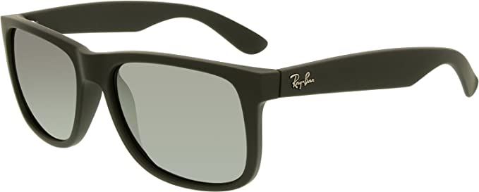 e1aee9a6fe Amazon.com  Ray-Ban Justin Sunglasses (RB4165) Black Grey Mirror ...