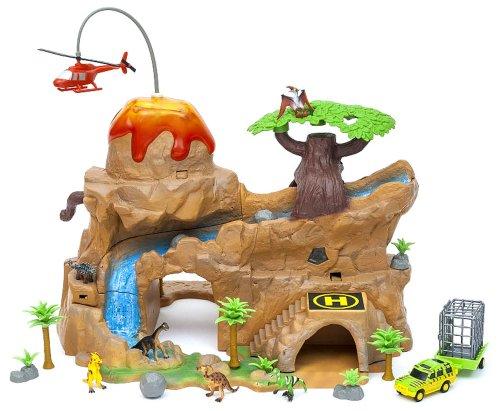 Volcano Island Micro Kingdom Animal Planet Playset Dinosaurs Set Toy Toys (Kingdom Animal Set)