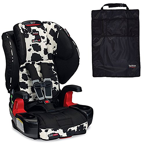 Safety Car Cowmooflage Seat (Britax Frontier ClickTight G1.1 Harness-2-Booster Car Seat & Kick Mats, Cowmooflage)
