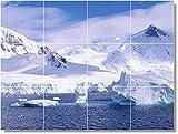 "Ceramic Tile Mural-Winter Photo Tile Mural W041. 32"" w x 24"" h using (12) 8 x 8 ceramic tiles"