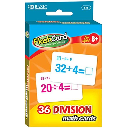 Bazic Products 535-24 Division Flash Cards 36 Count ()