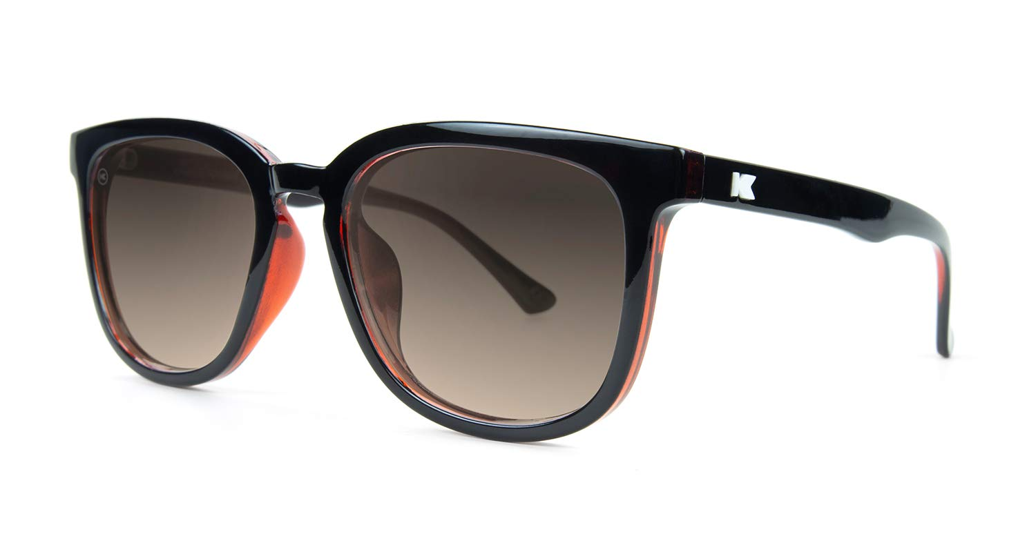 4aa2c21ff7a2 Knockaround Paso Robles Polarized Sunglasses With Glossy Black And Red  Frames Black Lenses