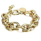 CIUNOFOR CZ Bracelet for Women Girls Wide Cuban