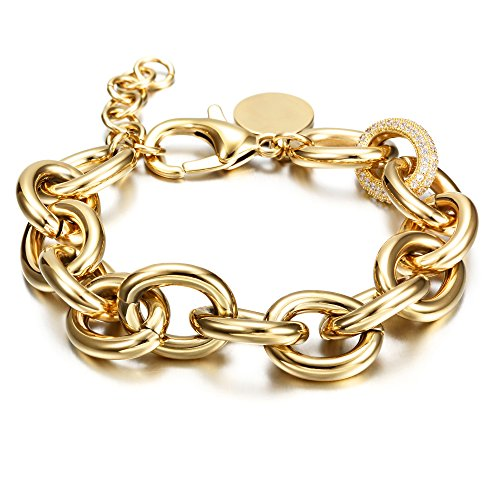 CIUNOFOR CZ Bracelet for Women Girls Wid...