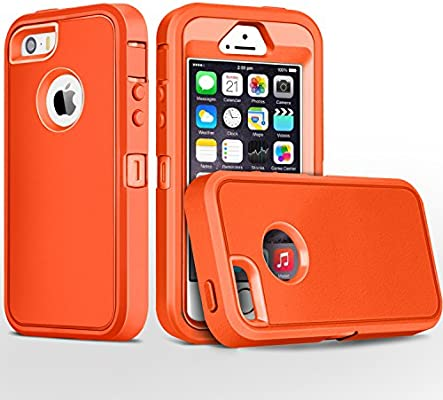 Amazon.com: Carcasa para iPhone 5S, iPhone SE, fogeek Heavy ...