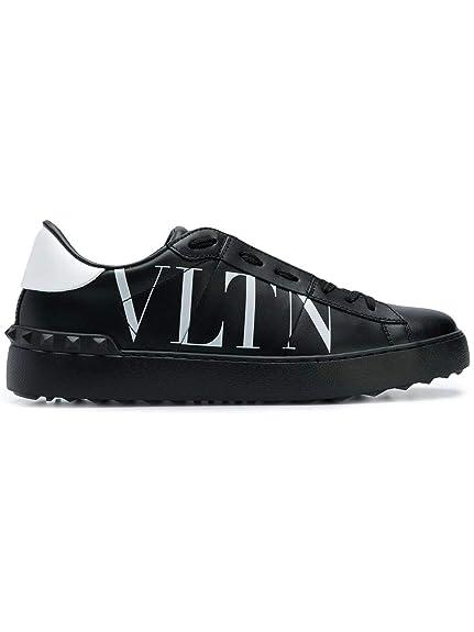 Valentino Garavani Mujer QW0S0781XZU0NI Negro Cuero Zapatillas: Amazon.es: Zapatos y complementos