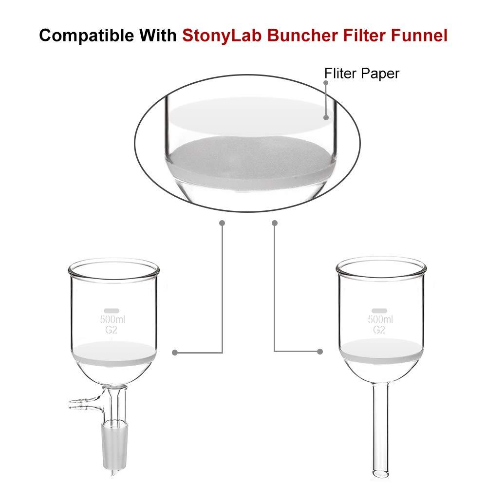 Filtros cuantitativos de papel circulares papel de filtro de celulosa con retenci/ón de part/ículas de 20 micras velocidad de filtraci/ón media 46 mm de di/ámetro StonyLab 100 unidades