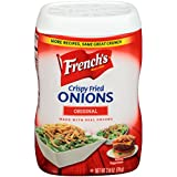 French's Original, Crunchy Topping, Onion Flavoring, Original Crispy Fried Onions, 2.8 Ounce (Pack of 15)