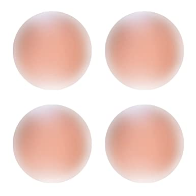 Boolavard Reusable Adhesive Silicone Nipple Cover Breast Pads