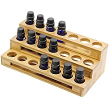 Aromatherapy Essential Oil Bamboo Storage Box Holds 21 Bottles 10 ML - 189 Style