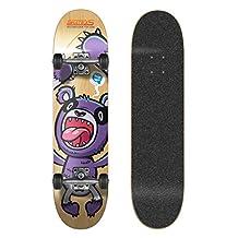 SkateXS Beginner Panda Street Skateboard - Black Grip