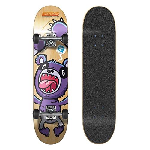 (SkateXS Beginner Panda Street Kids Skateboard)