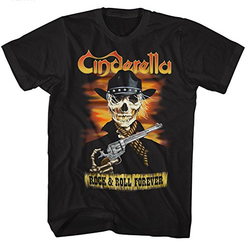 (Cinderella Skelerella Black Adult T-Shirt Tee)