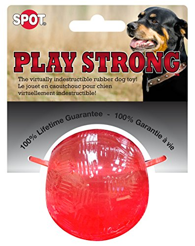 Ethical Pets Dog 54000 Play Strong Rubber Ball Dog Toy Red, Small, 2.5-Inch