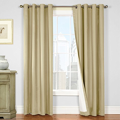 Jinchan Blackout Lined Curtain Panels For Bedroom Thermal Insulated Living Room Drapes 84 Inch