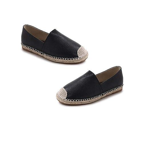 Respirable Primavera Verano Mujer Zapatillas sin Cordones Zapatos Planos Damas de Moda Mocasines Casuales Dama Zapatos para Mujer - Negro 37: Amazon.es: ...
