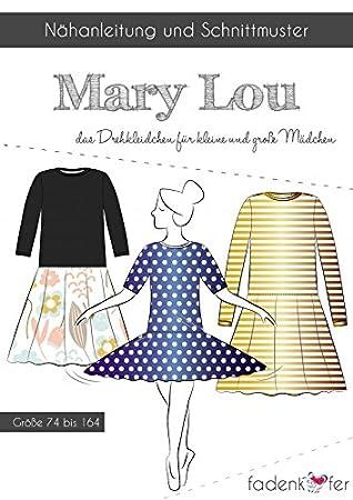 Schnittmuster Fadenkäfer Mary Lou - Mädchen Kleider & Tellerröcke ...