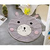 """""""Super Soft Hand-woven Mats / Children Carpets / Knitted Woolen Area Pads By Cutepuppy(31""""""""x31"""""""" Round) """" (Bear)"""