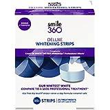 Smile 360 Deluxe Teeth Whitening Strips, 20 Day Treatment + 5 Bonus Treatments, 50 Count