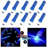 CCIYU 10 Pack Blue T5 Instrument Cluster Panel Gauge Dash LED Bulb light 17 57 37 73 74 / T5 Diode Led Bulbs For Dashboard Gauge Light Speedometer Odometer Tachometer