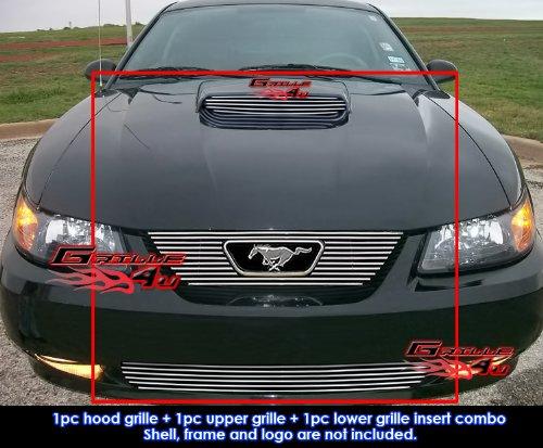 APS Fits 1999-2004 Ford Mustang GT V8 Billet Grille Grill Combo Insert - Mustang Billet Grille Ford Grill