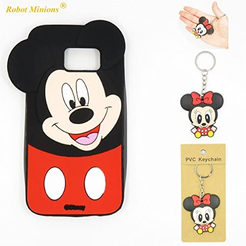 S7 Case,Galaxy S7 Case,Galaxy S7 Soft Silicon Gel Rubber Case,Robot Minions Classic 3D Cute Cartoon Figure [Tilt Mickey] Soft Silicon Gel Rubber Case Sales