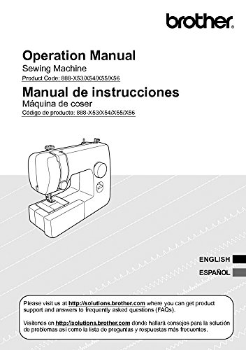 (Brother JX2517 Sewing Machine Owners Instruction Manual)