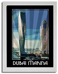 Dubai Marina- Colour F03-nm (a4) - Framed
