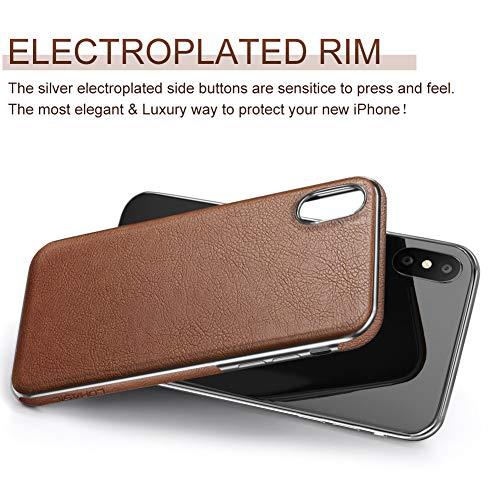 buy popular a53eb 10648 Basic Cases For IPhone Xs Max Case, Premium Leather Slim Luxury ...