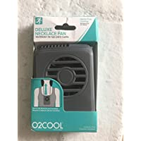 O2Cool deluxe Necklace Personal Hands-Free Cooling Fan assorted colors