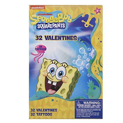 SpongeBob Squarepants 32 Valentine Cards with -